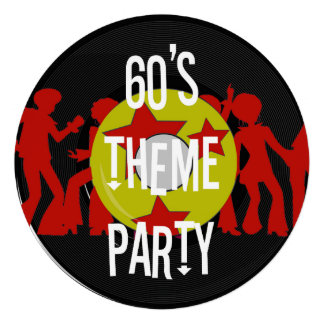 Retro 60 s Theme Party Invitations