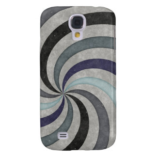 Retro 60's Blue Gray Swirl Pern Samsung Galaxy S4 Cases