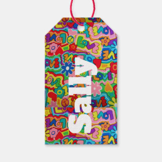 Retro 60s Funky Personnalised Gift Tags