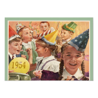 Retro 60th Birthday Party 1954 Childhood Memories Personalised Invitation