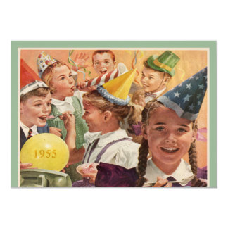 Retro 60th Birthday Party 1955 Childhood Memories 13 Cm X 18 Cm Invitation Card