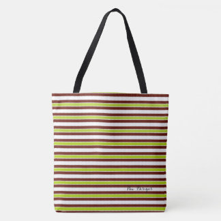 Retro-70's_Beachware(c) Lime-Brown_Multi-Sizes Tote Bag