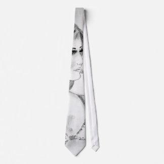 Retro 70s Fashion Model Tie