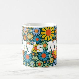 Retro/70s Pattern Personnalised Coffee Mug