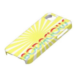 Retro 80s Bright | Bodacious Rainbow Sunburst iPhone 5 Case