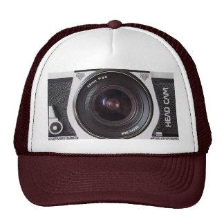 Retro 80s Camera Head Cam Effect On A Hat