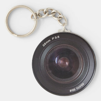 Retro 80s Camera Lens On A Keyring