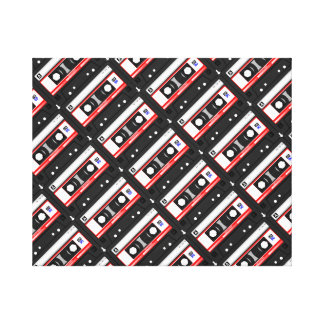 Retro 80's cassette tape canvas print