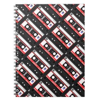 Retro 80's cassette tape notebooks