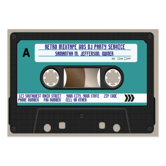 Retro 80s Cassette Tape Pack Of Chubby Business Cards