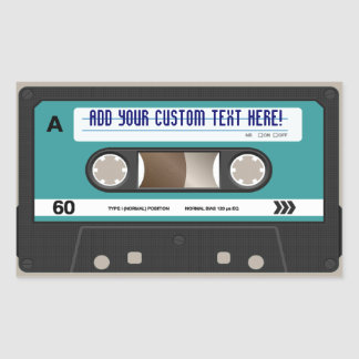 Retro 80s Cassette Tape Personalized Sticker