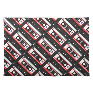 Retro 80's cassette tape placemat
