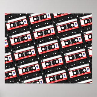 Retro 80's cassette tape poster