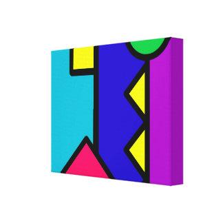 Retro 80s Color Block Gallery Wrap Canvas