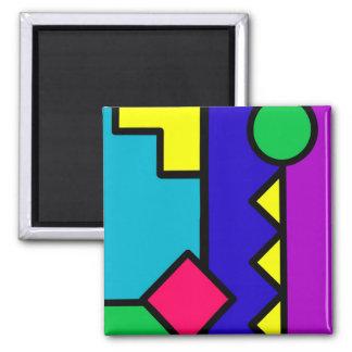 Retro 80s Color Block Magnets