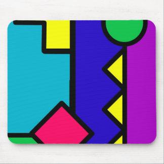 Retro 80s Color Block Mouse Pad