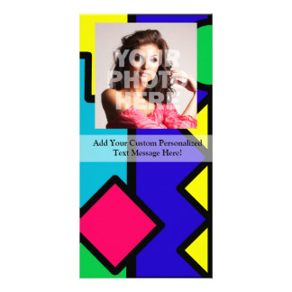 Retro 80s Color Block Photo Card