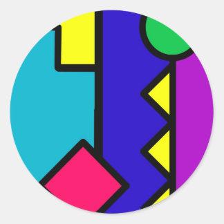 Retro 80s Color Block Sticker