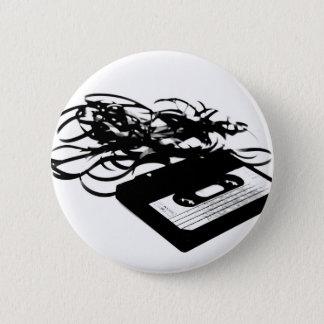 Retro 80's Design - Audio Cassette Tape 6 Cm Round Badge