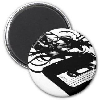 Retro 80's Design - Audio Cassette Tape 6 Cm Round Magnet