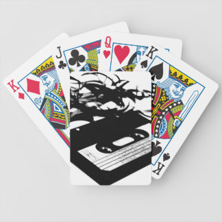 Retro 80's Design - Audio Cassette Tape Bicycle Playing Cards