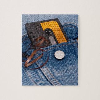 Retro 80's Design - Audio Cassette Tape Jigsaw Puzzle
