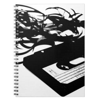 Retro 80's Design - Audio Cassette Tape Notebook