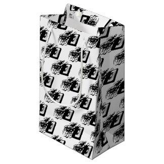 Retro 80's Design - Audio Cassette Tape Small Gift Bag