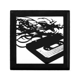 Retro 80's Design - Audio Cassette Tape Small Square Gift Box