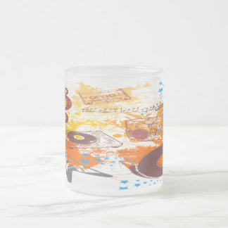 Retro 80's Music Frosted Glass Mug