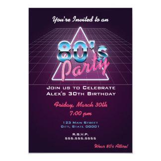 Retro 80's Party Invitation