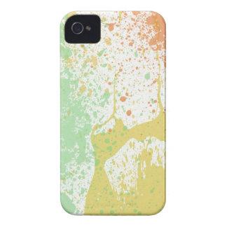 Retro 80s pastel paint splatter print iPhone 4 4S iPhone 4 Case-Mate Case