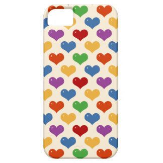 Retro 80s rainbow girly kawaii cute hearts pattern iPhone 5 covers