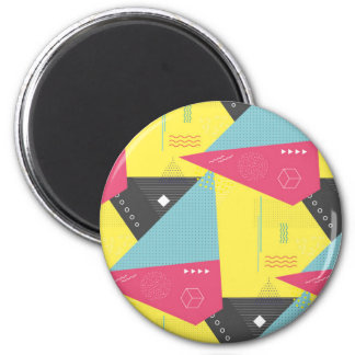 Retro 80's Style Button Badge Magnet
