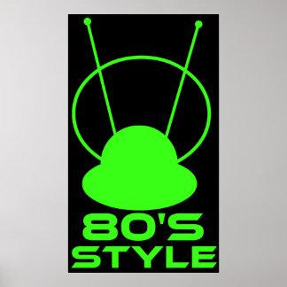 Retro 80s Style Poster