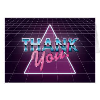 Retro 80's Thank You Card