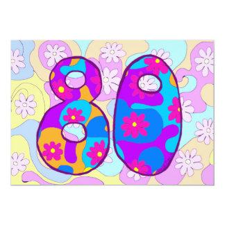 Retro 80th Birthday Party Invitation