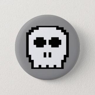 Retro 8-bit Skull 6 Cm Round Badge