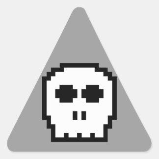 Retro 8-bit Skull Sticker