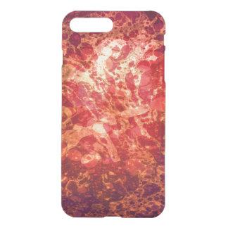 Retro Abstract Art Swirls Bubbles Red Purple Gold iPhone 7 Plus Case