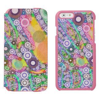 Retro Abstract Circle Pattern Incipio Watson™ iPhone 6 Wallet Case