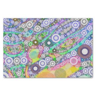 Retro Abstract Circle Pattern Tissue Paper