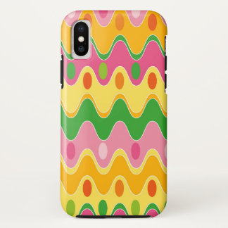 Retro Abstract Colorful Zig Zag Mod Phone Case
