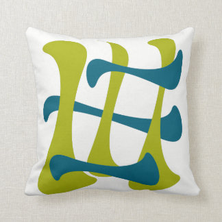 """Retro Abstract """"Current"""" Cushion"""
