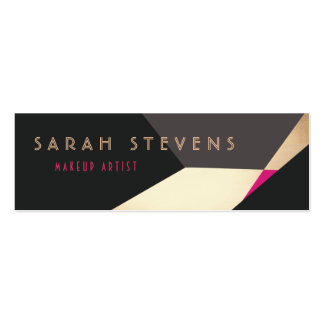 Retro Abstract Gold Makeup Artist Modern Edgey Pack Of Skinny Business Cards