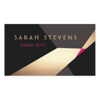 Retro Abstract Gold Makeup Artist Modern Edgey Pack Of Standard Business Cards