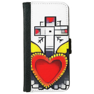 retro abstract heart iPhone case