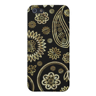 Retro Abstract Paisley Pern 2-Gold & Diamond iPhone 5/5S Case