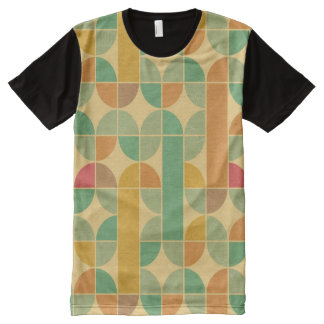Retro abstract pattern All-Over print T-Shirt