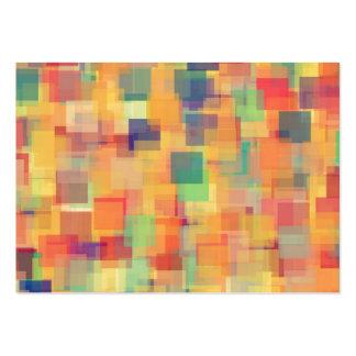 Retro Abstract Rainbow Art Design Business Card Template
